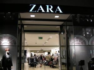 Zara prodejna Londýn