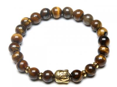 Zlatý Buddha náramek tygří oko